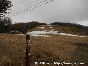 地蔵峠の少し鹿塩温泉側にある湯ノ丸山登山口