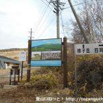 菅平牧場の根子岳・四阿山の登山口に設置されている道標