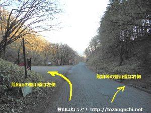 国道254号線旧道の内山峠(下仁田町側から)