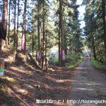 鍬柄嶽登山口前の林道