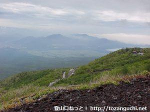 富士山の吉田ルートの六合目付近