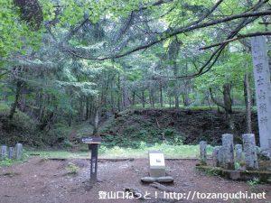 富士山の吉田口登山道の禊所(一合目)