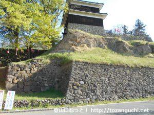 上田城の石垣と櫓