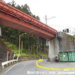 浦山口駅から浦山ダム方面に進む