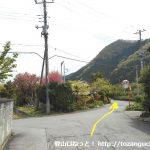 武州中川駅から若御子神社に行く途中の三叉路