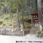 若御子神社の本殿右側にある若御子山の登山口