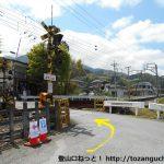 武州日野駅横の踏切