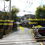 武州日野駅横の踏切を渡ったら車道を直進