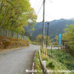 三峰口駅から強石方面に行く途中の林道