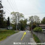 東武竹沢駅からの車道が国道254号線と交差する信号