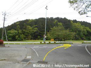 明覚駅からいこいの里に行く途中のT字路