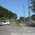 東吾野駅前の車道