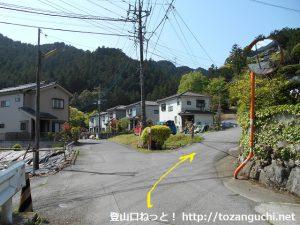 東吾野駅西側の天覚山登山口前