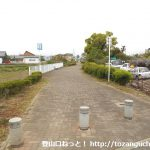 神川健康緑道に入るところ
