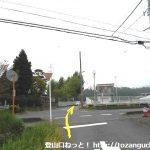 神川健康緑道から左折して県道22号線を横切る