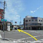 桐生駅北口前の交差点を直進