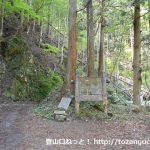 根本山・熊鷹山の不死熊橋登山口前の林道