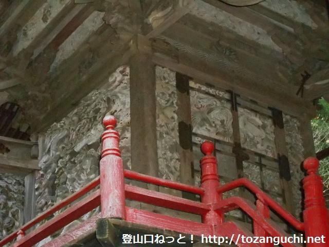 黒保根栗生神社の本殿(アップ)