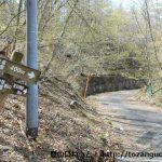 杖の神林道の入口に設置してある道標