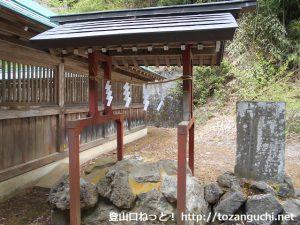 子持神社の女神の足跡