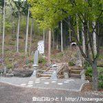 観音寺の本堂左奥にある戸神山登山口