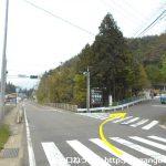 国道17号線の相俣交差点を右折して県道270号線に入る