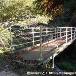 吉和冠山の登山口にある鉄橋
