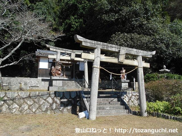 天神山城跡(佐伯天神山)の登山口となる天石門別神社
