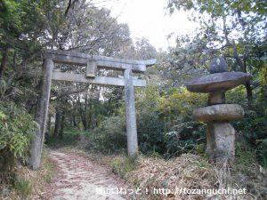 高蔵神社の参道の鳥居
