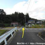 玖波分れバス停から下川上に向かう途中の十字路