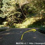 野為橋バス停から橋を渡って坂を上がったところで県道252号線に出合ったところ