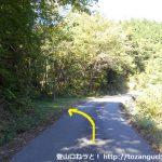 林道水越亀山線の大潰山登山口の入口