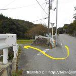 斗升バス停から六社神社の方に進む