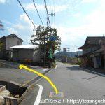獅子山八幡宮のすぐ先を左折して県道157号線に入る