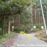 荒戸神社の手前の林道分岐