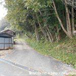木野山(木野山神社奥の院)の木野山駅側の登山口前
