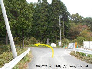 田浪キャンプ場に行く手前のT字路