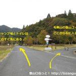 田浪キャンプ場の手前から右に入る