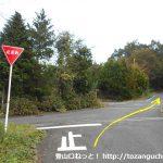 上福田バス停から蒜山高原休暇村に行く途中の辻