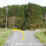 三平山登山口に向かう途中の分岐1