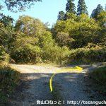三ツ子原林道の入口分岐