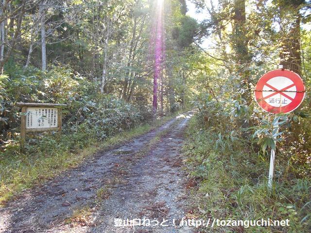 三ツ子原林道の入口