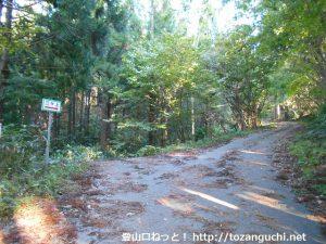 三ヶ上の登山口に向かう林道の分岐2