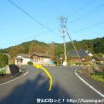 泉山登山口に向かう途中の分岐2