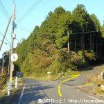 泉嵓神社に向かう林道の入口