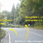泉山の大神宮原コース入口分岐
