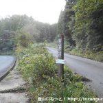 泉山の大神宮原コース登山口に設置されている道標
