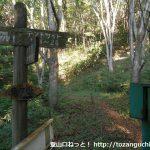 越畑キャンプ場の角ヶ仙登山口