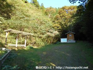 泉山の中林コース・天の川コースの登山口