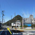 和気駅前の車道を和気富士の方に進む